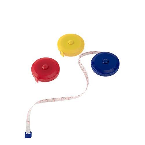 YXQ LED 60 inch /150 cm Metro a Nastro Metro a Nastro per misurazione del Corpo Piccolo Metro a Nastro per Cucire per sarti -Blu-Giallo-Rosso
