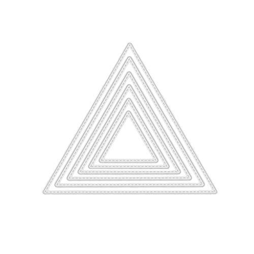 WE-WHLL Troqueles de Fondo con Forma de Trianguler Troqueles artesanales de Corte de Metal para Hacer Tarjetas de Papel DIY Scrapbooking