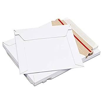 White Rigid Mailing Envelopes Stay Flat Mailers  6 x 6 Inches 100 Pack