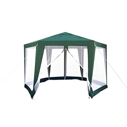 VANGALOO sechseckiger Event Pavillon, Zelt, Sun Shelter, Sonnensegel, Quick Deluxe Pavillion, Partyzelt,Sonnenschutz für Outdoor, Easy Überdachung
