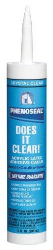 DAP 00602 Phenoseal Vinyl Adhesive Caulk, Clear, 10 Oz, Fl. oz