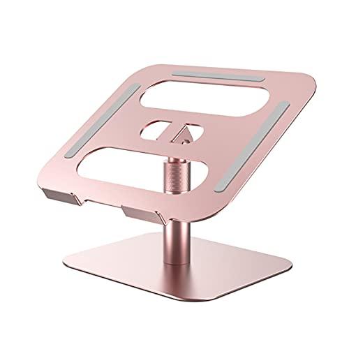 GKXAZ Levantador portátil Soporte Ángulo Ajustable Altura Ajustable 360 Grados Aleación de Aluminio Aleación Ergonómica Computadora Portátil (Color : Z45 Pink)