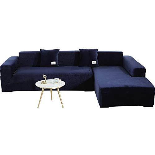 TIYKI Dick Sofa-abdeckungen,Stretch Stuhl Slipcover Sofa Abdeckung,Solide Farbe Sofa Bettbezug,L Form Couch Abdeckungen Für Schnitt-Tibetischecyan. 4 seaters(1pic)