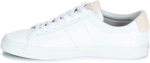 Ralph Lauren Sneaker Uomo Polo Sport Sayer Canvas White - 40, White