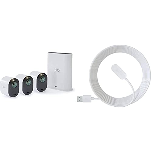 Arlo Ultra 4K HDR | Caméra de Surveillance WiFi sans Fils. Grand...