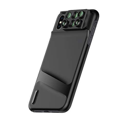 Ztylus Switch 6 MK II Lens Kit for Apple iPhone XS/X: 6 in 1 Dual Optics Lens System (Fisheye, Telephoto, Wide-Angle, Macro and Super Macro), Durable Phone Case, Double Layer Protection, Build-in Grip