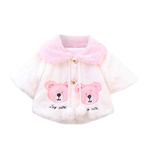 Jimmackey Giacche Bambino Invernali,Giacca del Mantello del Cappotto di Inverno della Neonata Giubbotto Vestiti Caldi Spessi Felpa Maniche Lunghe