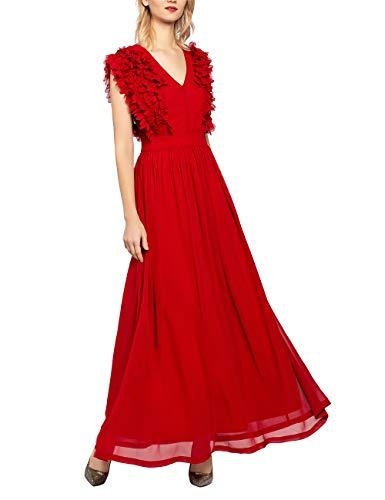 APART damska suknia wieczorowa z szyfonu, czerwony, 36 PL
