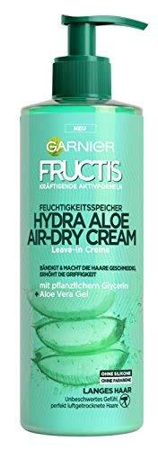 Garnier - Crema hidratante para el pelo Fructis Hydra Aloe Air Dry Cream (2 x 400 ml)