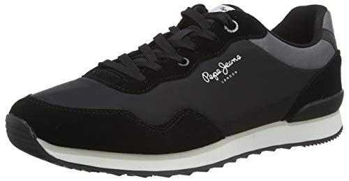 Pepe Jeans London Mens Cross 4 URBAN Sneaker, 999BLACK, 43 EU