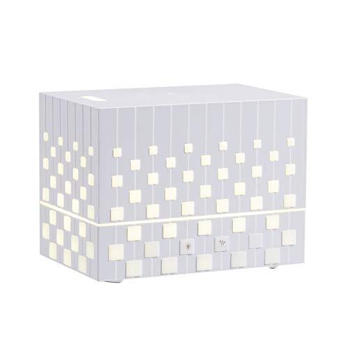 Decdeal Diffusore di Aromi Ad Ultrasuoni,Umidificatore a Cubo Diffusore di Olio Essenziale 220ML,Senza Acqua Spegnimento Automatico/Luce Notturna Colorata,per Home/Office