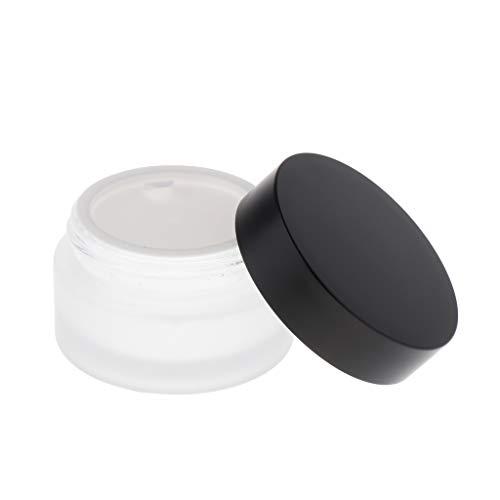 perfeclan Pot Creme Vide avec Couvercle à Vis   Rechargeable Contenant Cosmétiques Vide - pour Paillette/Poudre/Crème - 50g