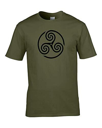 Ice-Tees - Camiseta para hombre con estampado de trisquel (símbolo celta de la Edad de Hierro)