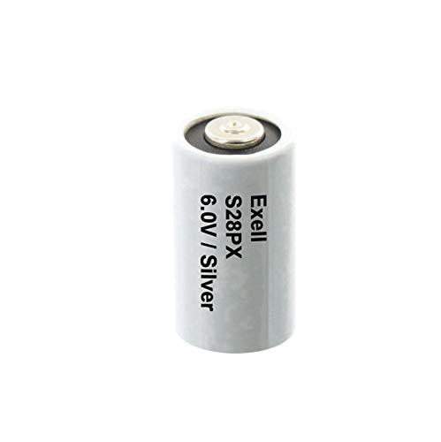 Exell S28PX 6V Silver Oxide Battery 4SR44, V28PX, PX28, 544, KS28, RPX28, S1325S, S1325, PX28-S, 1406SOP, RFA1611, RFA-16-11, 4G13