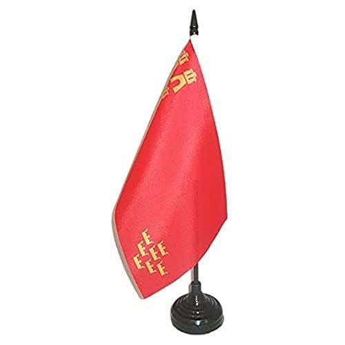 AZ FLAG Bandera de Mesa de la REGIÓN DE Murcia 21x14cm - BANDERINA de DESPACHO MURCIANA 14 x 21 cm