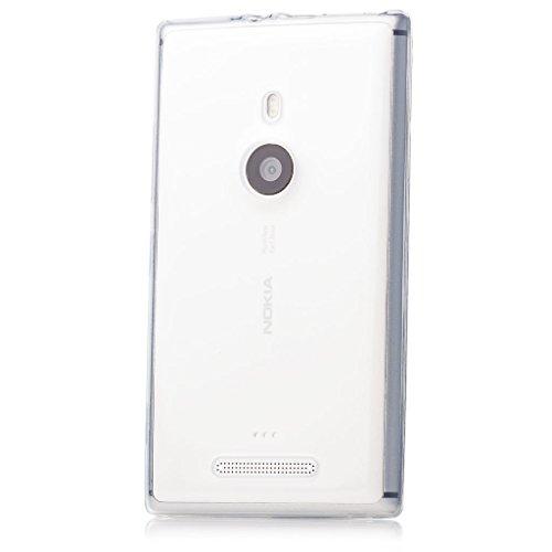 iCues | Nokia Lumia 925 | trasparente TPU Chiaro | protettore foglio trasparente della cassa della pelle del gel Sereno Sereno silicone prot [Screen protector Compreso] Custodia Cover Case Tasca Borsa