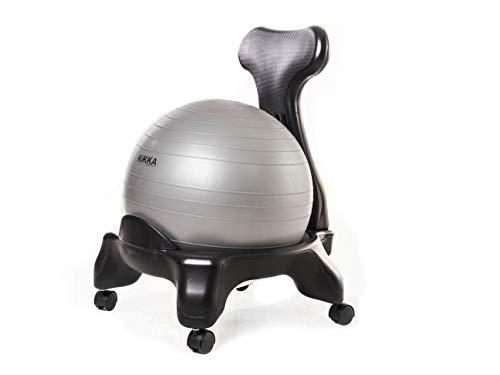 Kikka Active Chair Grigia - Sedia ergonomica con Pallone Gonfiabile