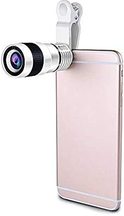 ANARONA Phone Lens Zoom, 12X Optical HD Cell Phone Camera Telephoto Lens with Universal Clip for iPhone X, 8, 7, 6s, 6, SE, Samsung Galaxy S9, S8, S7, S7 Edge and Most Smartphones