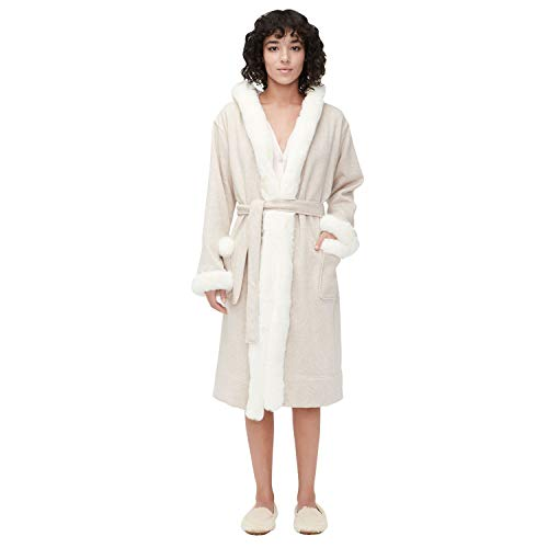 UGG Duffield Deluxe II Robe Oatmeal Heather SM