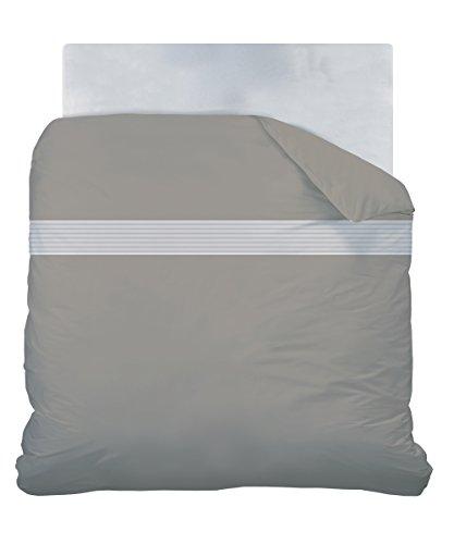 CTI 042247 gemütlich Vesper Bettbezug, Baumwolle, 240 x 220 cm, braun