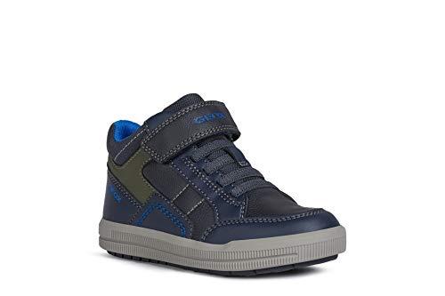 Geox Jungen Sneaker Arzach Boy, Kinder High-Top Sneaker,lose Einlage, Sneaker-Stiefel Kinderschuhe toben,Navy/Military,29 EU / 11 UK Child