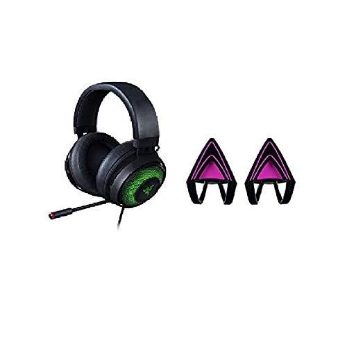 Razer Kraken Ultimate - Auriculares Gaming USB ,Gaming Headset con Micrófono Active Noise Cancelling +Razer - Kitty Ears para auriculares Kraken, compatible con los modelos 2019