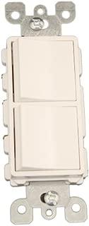 Leviton 5641-W 15 Amp, 120/277 Volt, Decora Single-Pole / 3-Way AC Combination Switch, Commercial Grade, Grounding, White
