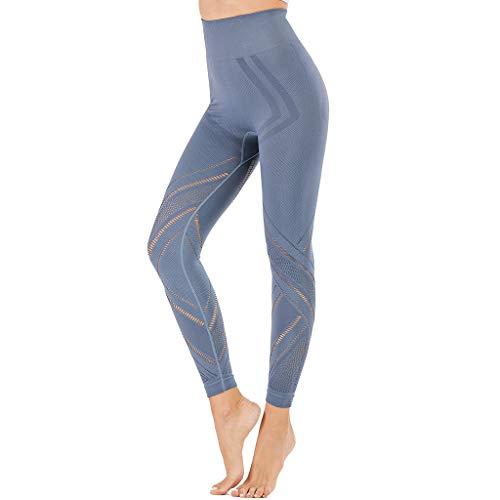 Damen Elastic Hollow Out Leggings mit Hohe Taille Enge Sport Casual Yoga Hosen, Damen Leggings, Classics Stretch Workout Fitness Jogginghose Eaylis