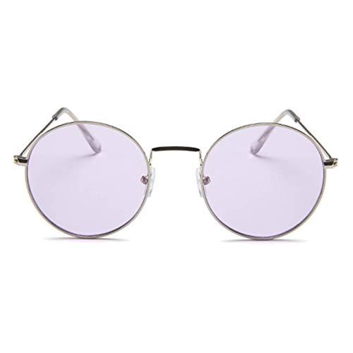 Zhang-StrongAn Gafas personales Moda Gafas de Sol clásicas Gafas de Sol Circulares de Metal Gafas de Sol Casuales Retro-Vintage