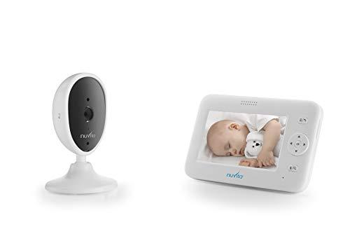 """Nuvita 3043 Wireless Babyphone mit Kamera 4.3\"""" Nachtsicht, Geräuschalarm, Schlaflied, Temperaturanzeige, Gegensprechfunktion - Baby Video Überwachung - 300m Reichweite - EU Produkt - Italian Design"""