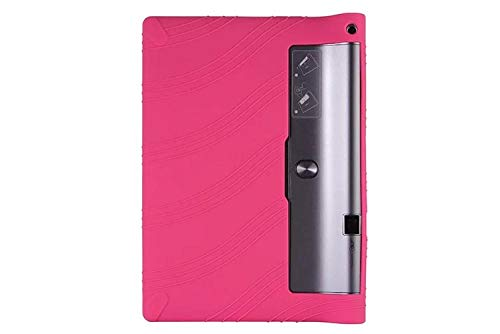 Funda de Silicona Suave Yoga Tab 3 Plus para Lenovo Yoga Tab3 Plus Funda de Tableta para Yoga 10 Pro X90 / x90F / X90M / X90L Funda Suave-Rosa