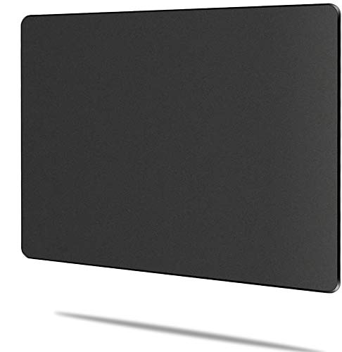 Romatpretty Black-Gaming-Mousepad,Hard-Mouse-Pad with Non-Slip Rubber Base,Fast-Accurate-Control Smooth-Plastic-Surface-Stiff Mouse-mat with Enhance-Precision for Laptop, Computer & PC