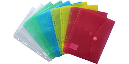 EXXO by HFP 35000 Dokumententasche A5 quer mit Abheftrand, farblich sortiert