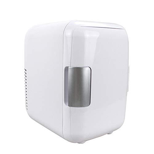 Mini Frigo Da Camera Piccolo Portatile 4L Auto Freezer Frigo Frigorifero A Casa Duplice Uso 12V Di Raffreddamento Parti Del Veicolo Per Mini Congelatore E Freezer, Auto Frigorifero Domestico(white)