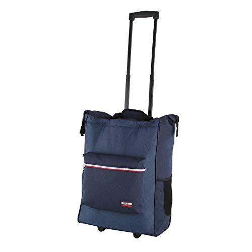 Rada ER/4 – großer Einkaufstrolley mit 35 Liter Volumen, Einkaufswagen, Handwagen, Einkaufstasche mit Rollen, Einkaufsroller, ausziehbarer Griff, robust und wasserabweisend (Midnight Sports)