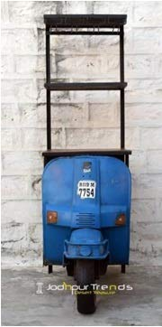 GELUSA N Botellero Tipo Scooter. Vinoteca Vintage. Estantería Retro para bodegas.