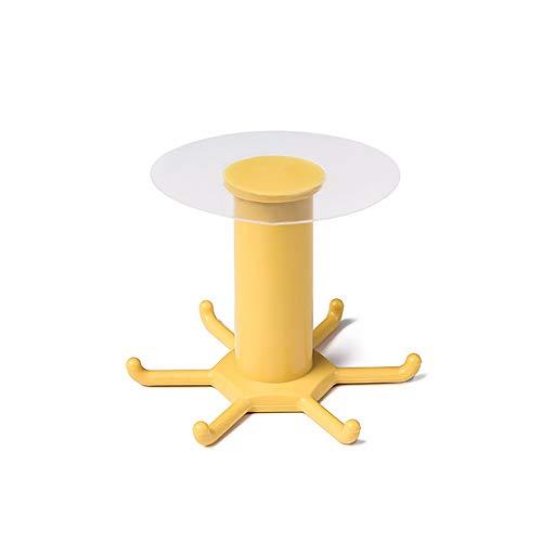 Eco Memos Ganchos Autoadhesivos para Baños de Cocina - Impermeable Colgador Adhesivo de Pared con 6 Ganchos Giratorios - Alta Resistencia, no Necesita Pegamento para Taladrar (Amarillo-1)