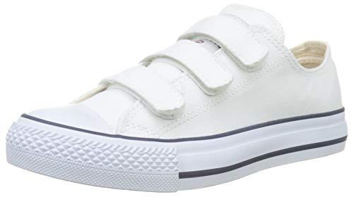 Victoria Tribu Velcros Lona, Zapatillas Unisex Adulto, Blanco (Blanco 20), 44 EU