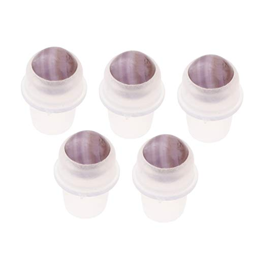 dailymall 5pcs Dessus De Roulement à Billes Pour Bouteilles D'huiles Essentielles - Violet clair
