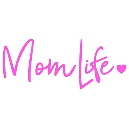 CCI Mom Life Decal Vinyl Sticker|Cars Trucks Vans Walls Laptop| Pink |7.5 x 3 in|CCI670