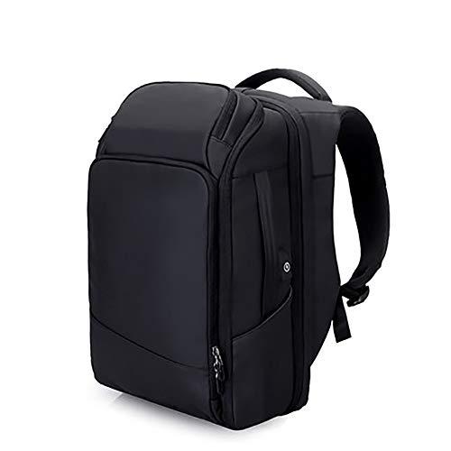 Business Laptop Reisetasche verstaut,Passen 17 Zoll laptops,Mit USB-anschluss,Anti-diebstahl wasserdicht Schultasche Mens & Frauen-Schwarz 31x17x50cm(12x7x20inch)