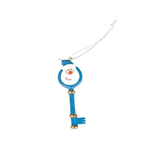 95sCloud 1 Stück Santa Schlüssel Weihnachts Hänger Christbaumschmuck Christbaumanhänger Geschenkanhänger Christbaumschmuck Baumschmuck Hänger Weihnachts- (Blau)