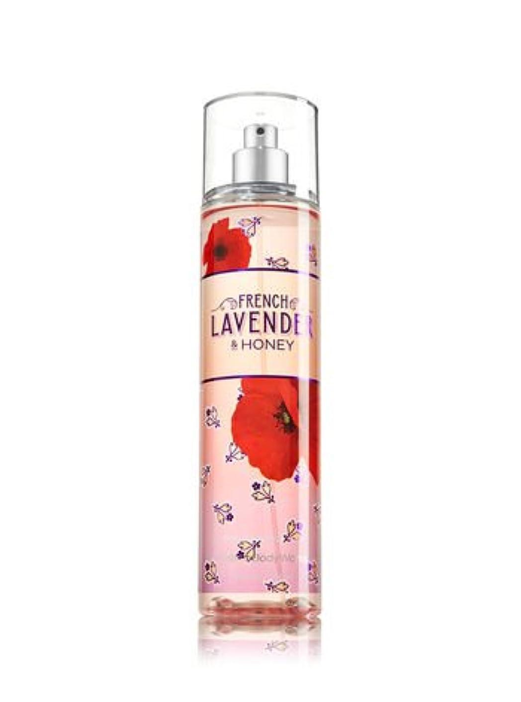 敵意木エリート【Bath&Body Works/バス&ボディワークス】 ファインフレグランスミスト フレンチラベンダー&ハニー Fine Fragrance Mist French Lavender & Honey 8oz (236ml) [並行輸入品]