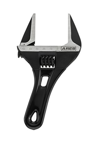 ARES 70303-53mm Stubby Adjustable Wrench - Stubby, Ultra Thin Design for...