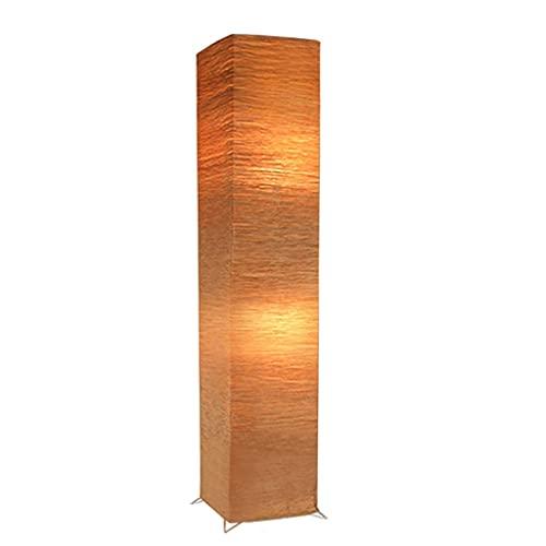 Lámparas de pie de papel para sala de estar, lámpara de pie de dormitorio con tono de papel, lámpara de papel de luz cálida luz de lectura para restaurante comedor (Color : Brown)