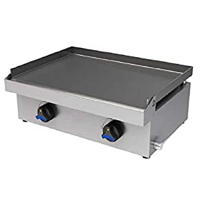 Plancha profesional a gas especial hosteleria bar, placa 8mm.