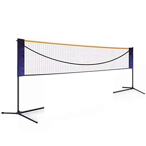 APOE Badminton Netz, Volleyball Netz für Garten, Tragbar Volleyballnetz mit Klappbarer Ständer, 3.1m/4.27m/5.18m, Badminton-Tennisspielen im Innen- und Außenbereich