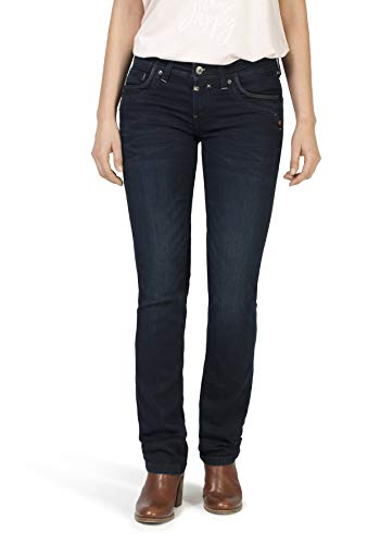 Timezone Damen TahilaTZ Straight Jeans, Blau (Noble Blue Wash 3787), 28W /32L