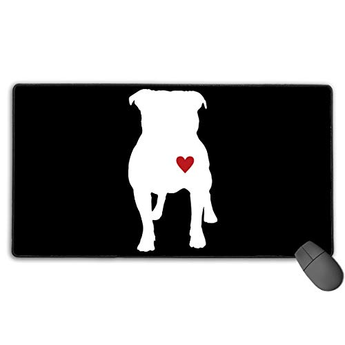 liulishuan Extended Large Gaming Mouse Pad/Mat, Pitbull Silhouette Mousepad with Non-Slip Rubber Base for Keyboard PC, Durable Stitched Edges Fashion14