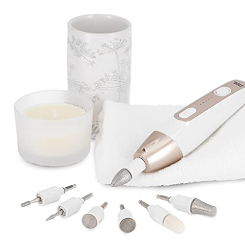 ADE CM2100 Elektrisches Maniküre-/Pediküre-Set zur Nagelpflege Fußpflege elektrische Nagelfeile Nagelfräser für Fingernägel, Entfernen von Hornhaut, Nagelhaut, Schwielen, Champagne